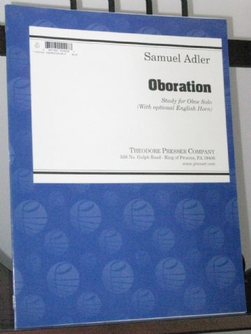 Adler S - Oboration Study for Oboe Solo (with optional English Horn)